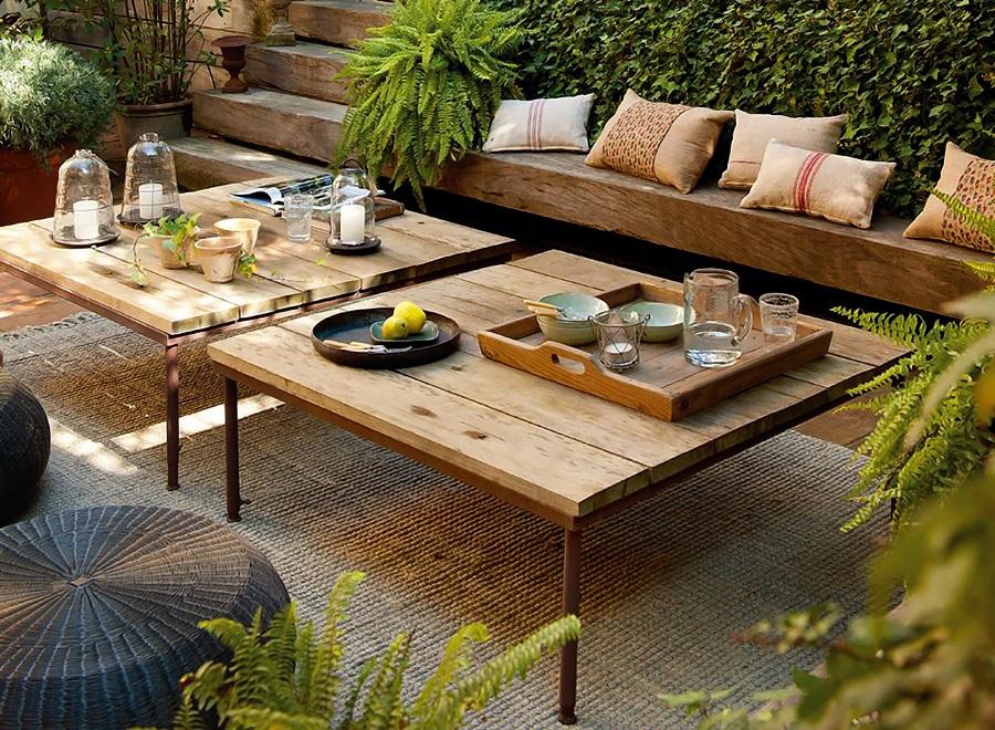 Jardín - mobiliario de madera