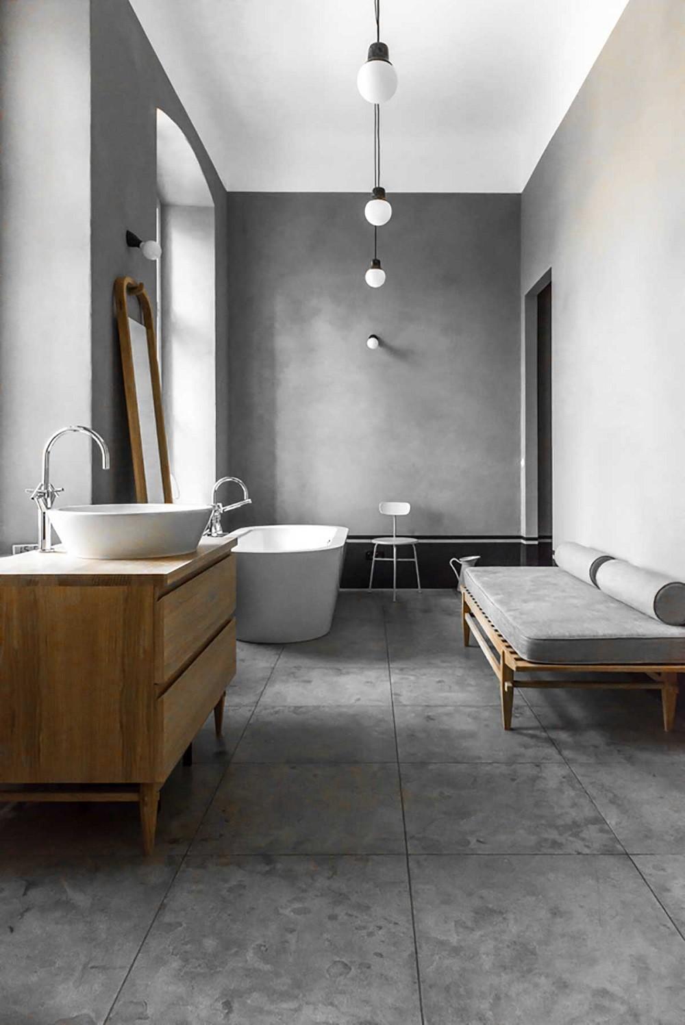 Baños modernos de hormigón