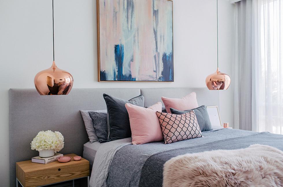 Dormitorios - lámparas metálicas