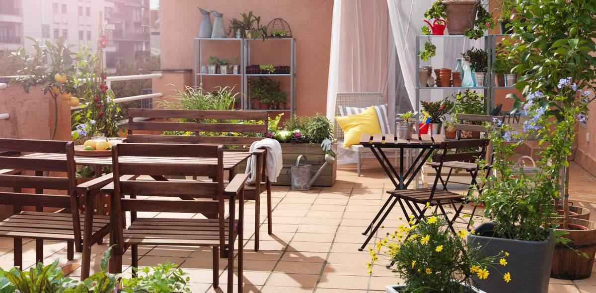 Muebles de terraza- distribución