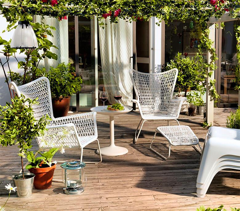 Muebles de terraza de acero