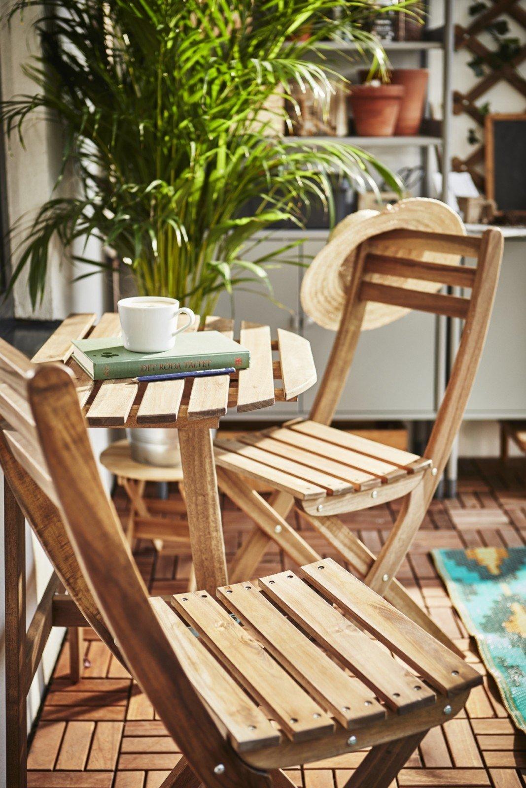 Muebles de terraza de madera de acacia