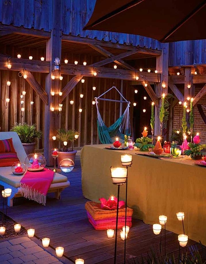 Muebles de terraza - luces