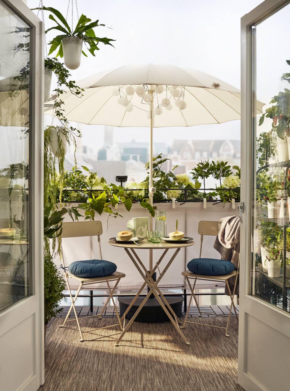 Muebles de terraza apilables