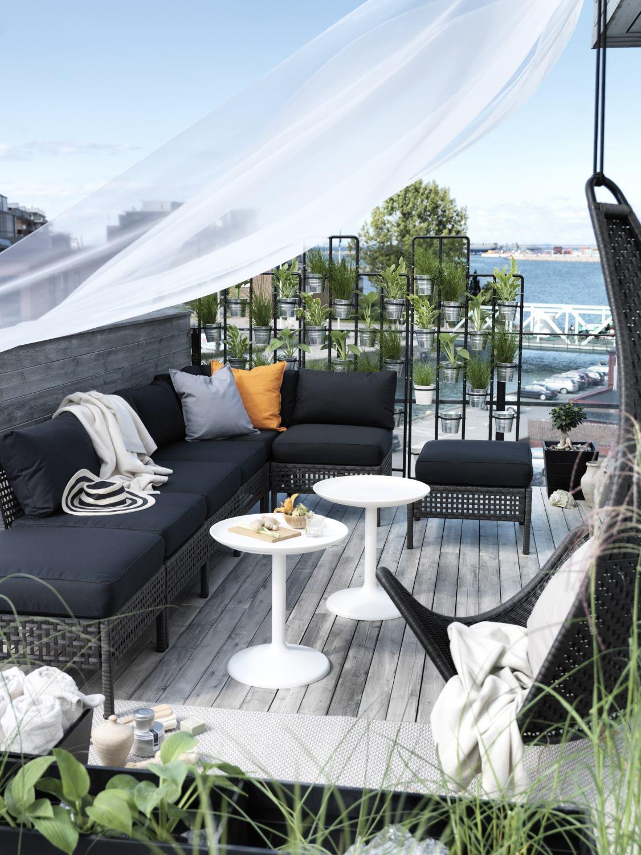 Muebles de terraza adecuados