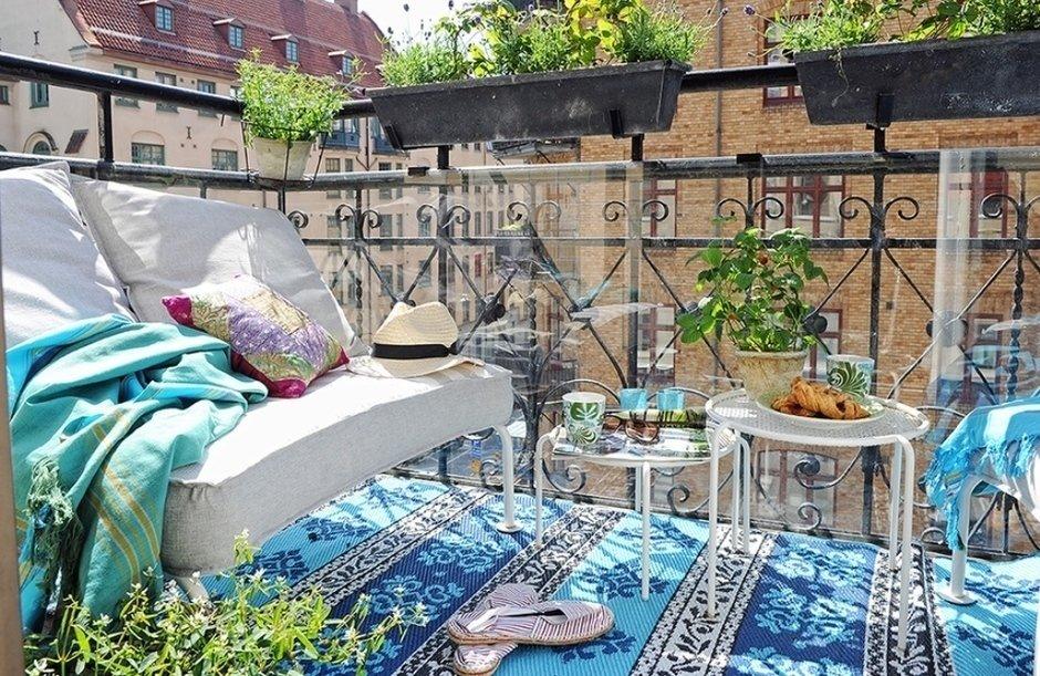 Muebles de terraza - alfombras