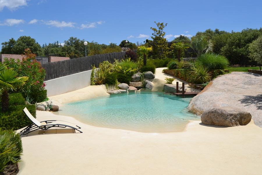 Piscinas de arena - una construcción natural