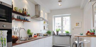Cocina pequeña - colores claros