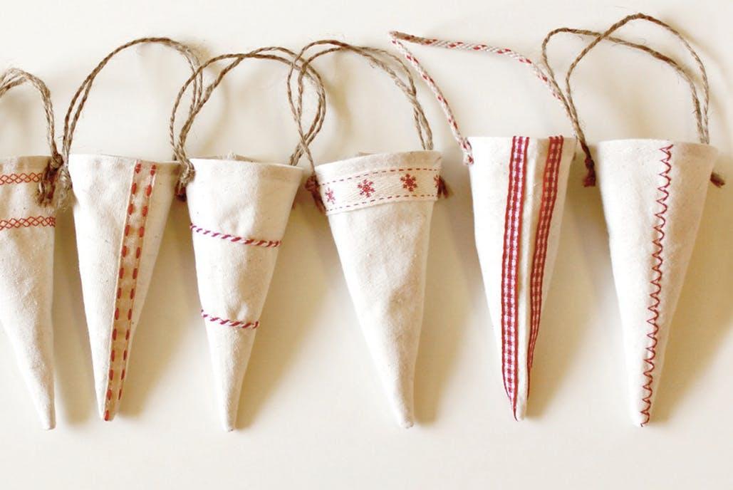 decoración nórdica - Cucuruchos de tela