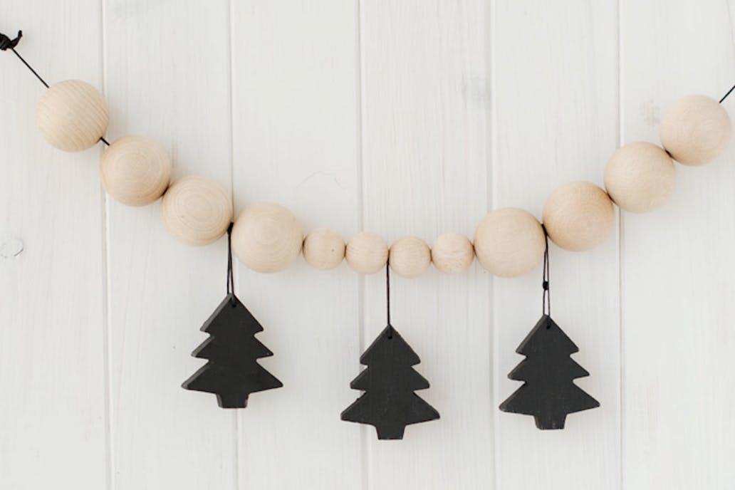 decoración nórdica - Adornos de madera