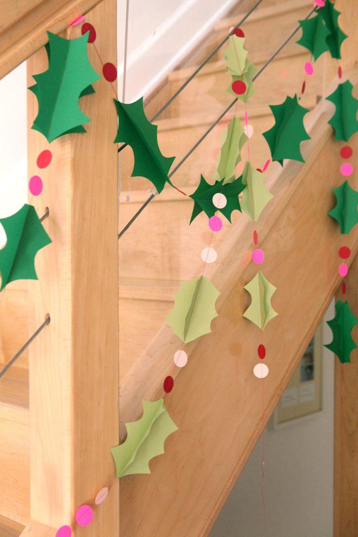 Manualidades de Navidad - guirnaldas de papel
