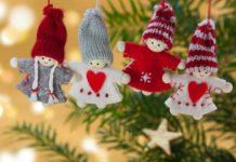 Manualidades de Navidad - figuras navideñas con masa de sal