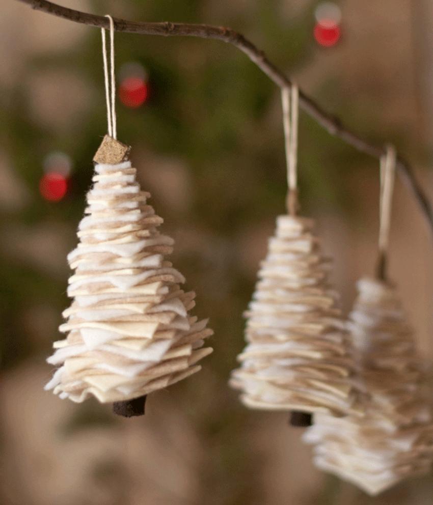 Manualidades de Navidad - adornos de fieltro