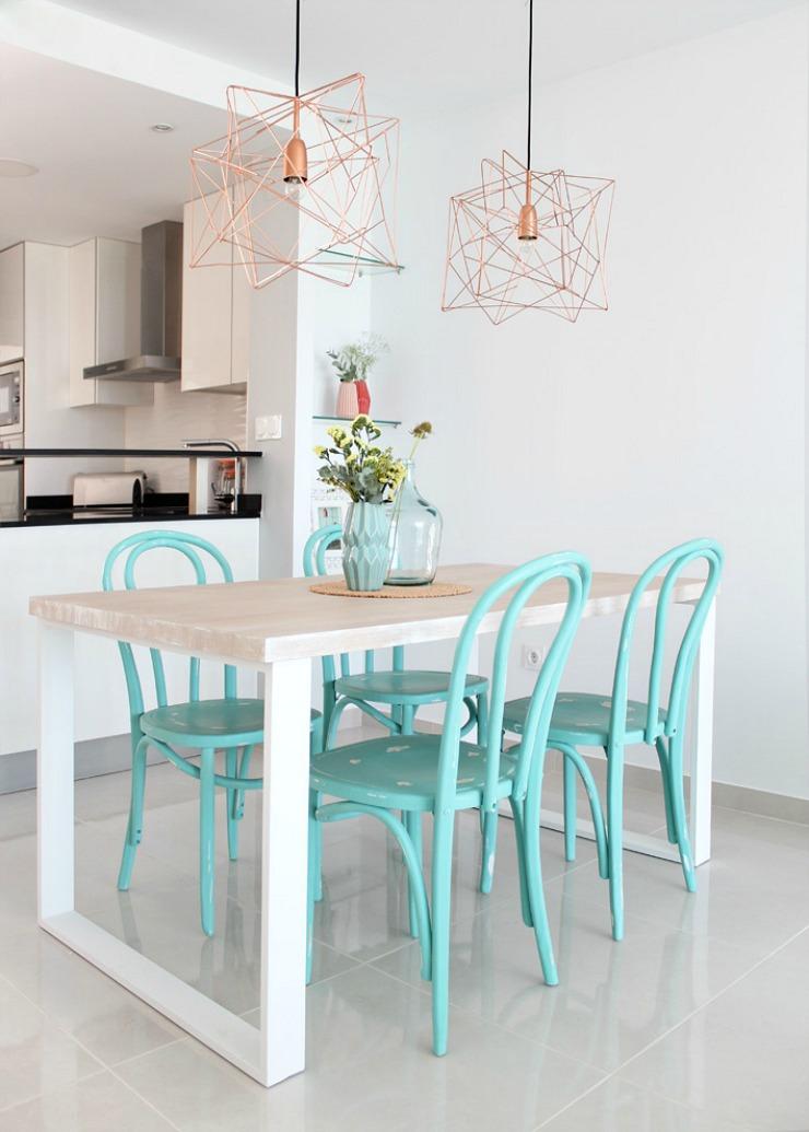 mesa de comedor decorada