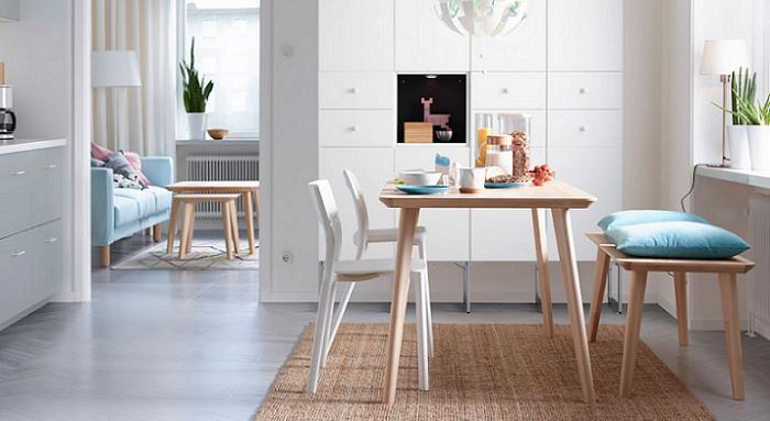 mesa de comedor - ubicación