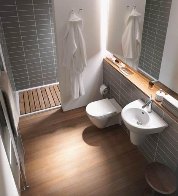 baño pequeño con sanitarios suspendidos