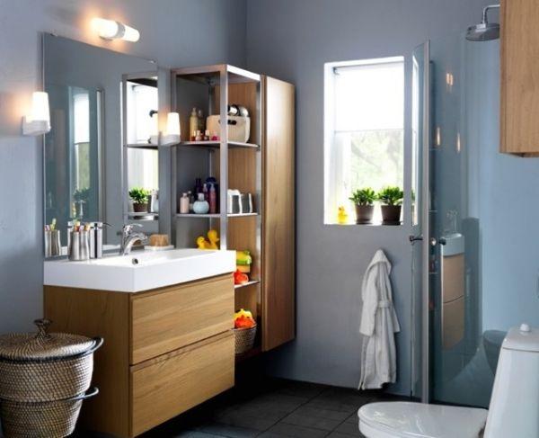 baño pequeño con muebles suspendidos