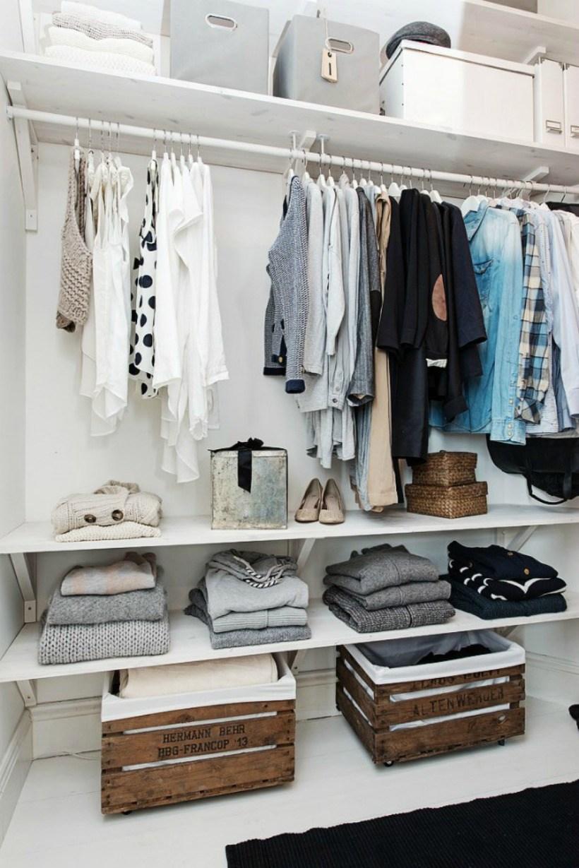 vestidor low cost con cajas