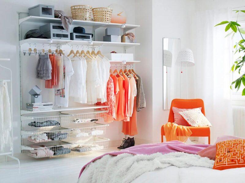 vestidor low cost en el dormitorio