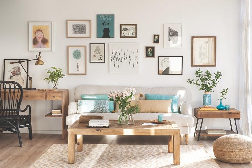 decoración cálida - madera