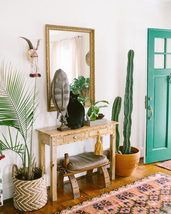 decoración cálida - plantas