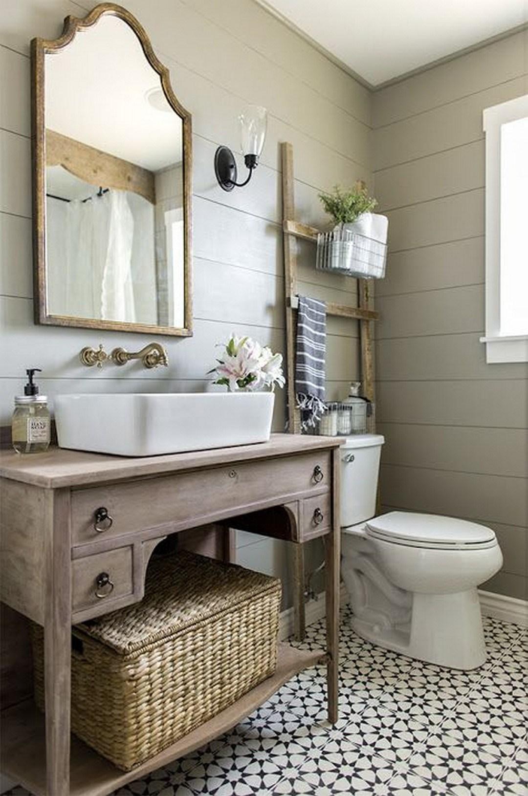 Baños rústicos - espejos