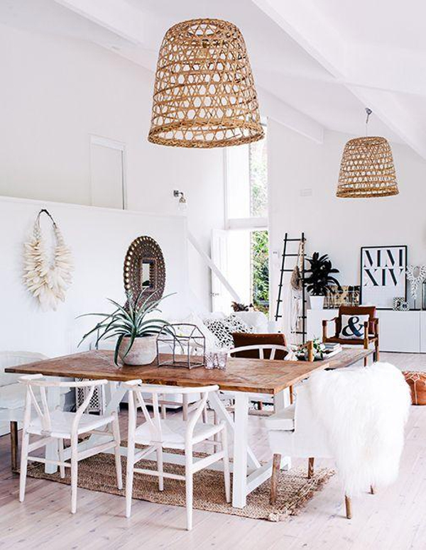 Lámparas de techo de fibras naturales