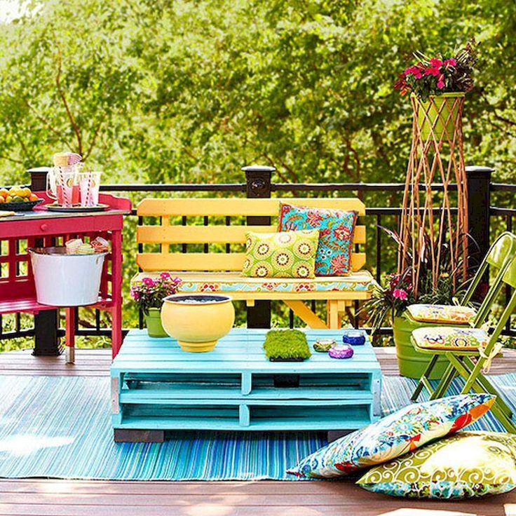 Decoración de terrazas - muebles reciclados