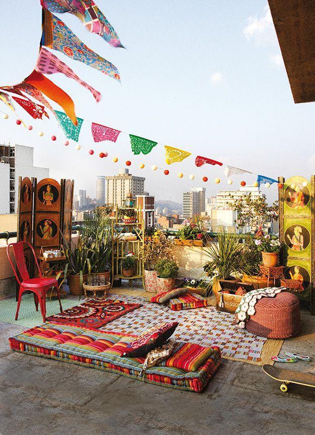 Decoración de terrazas - combinación de estilos