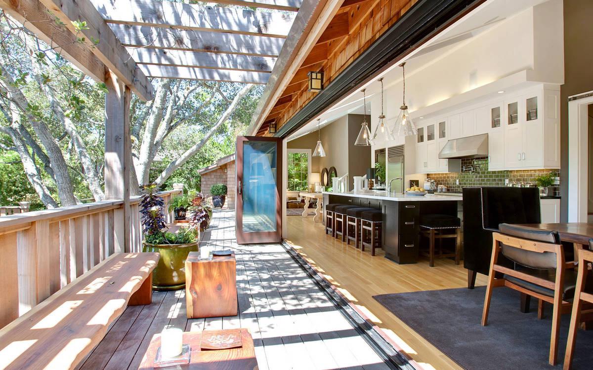 cocina exterior abierta