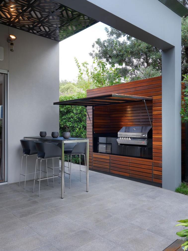 Cocina exterior de madera
