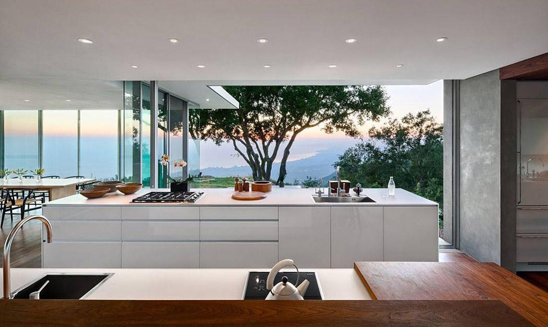 cocina exterior con vistas