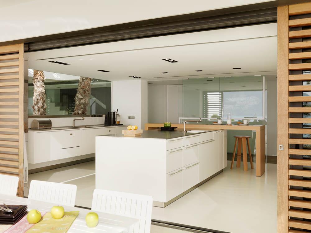 cocina exterior - continuidad visual