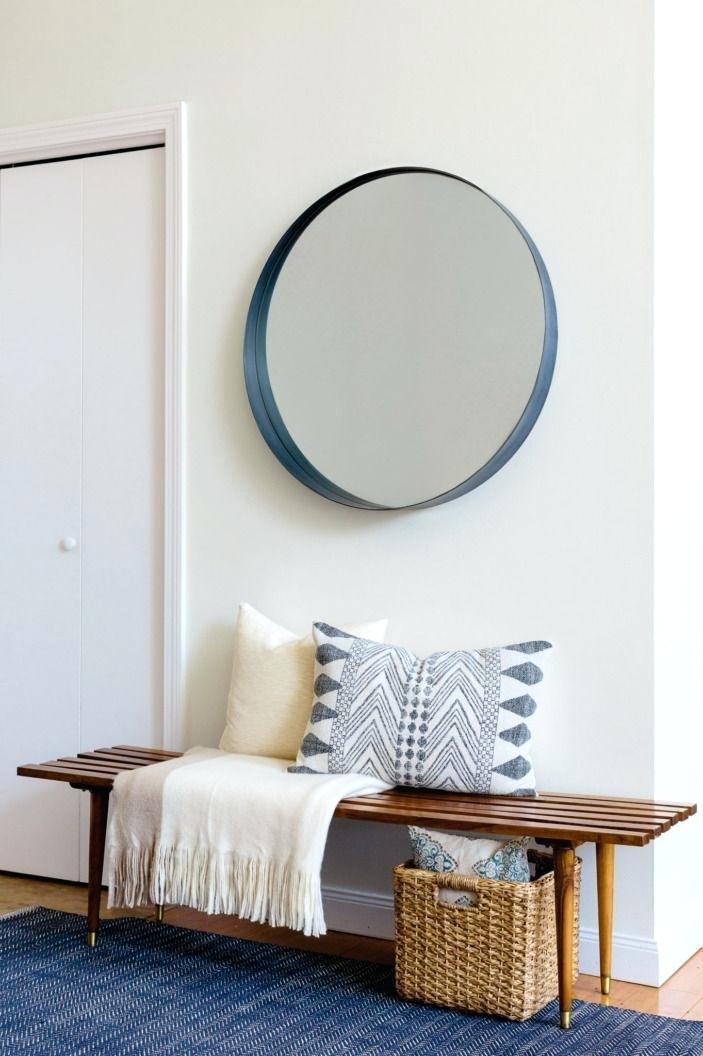 Recibidores pequeños con espejos redondos