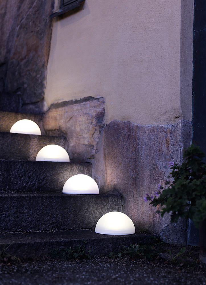Iluminación exterior para iluminar escalones