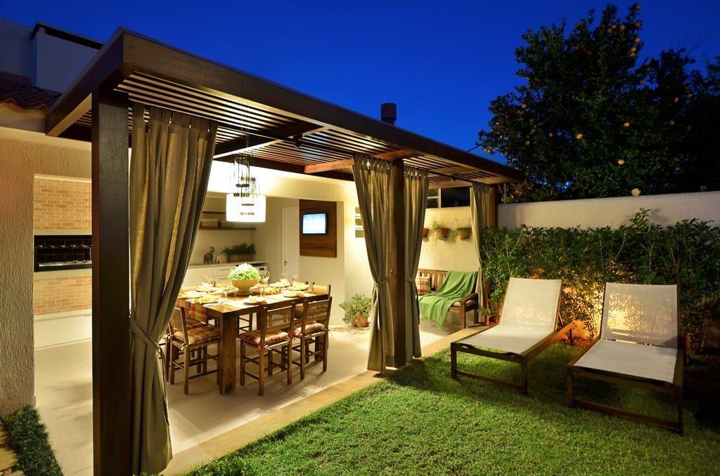 Iluminación exterior en el porche