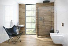Platos de ducha de obra de madera