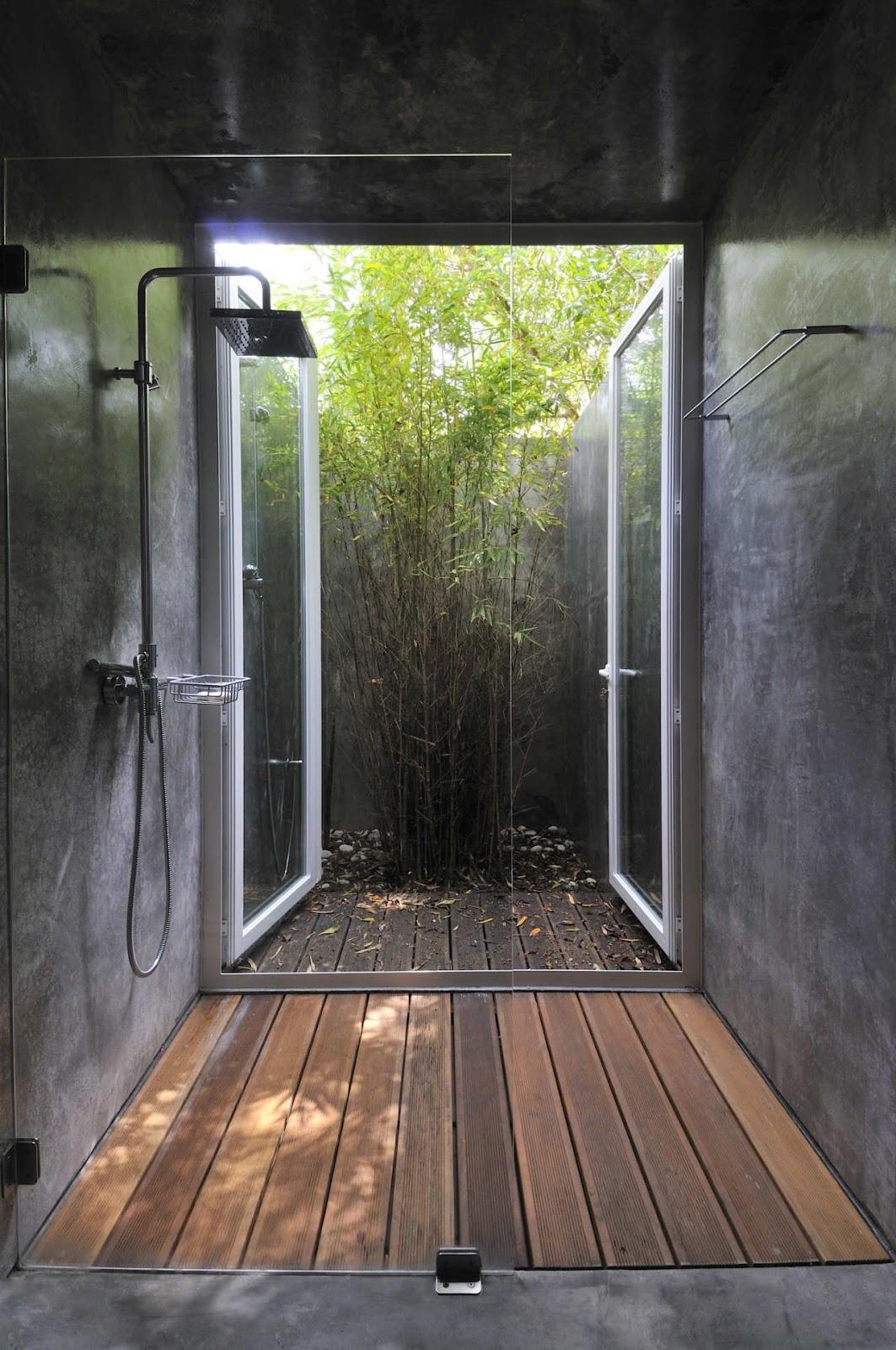 Platos de ducha de obra que dan al exterior
