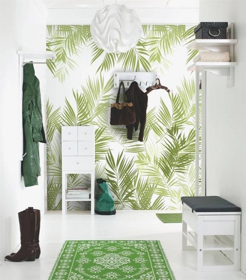 Estilo tropical en el recibidor