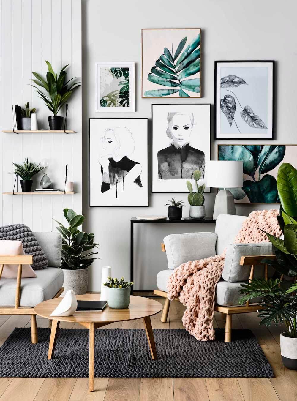 Estilo tropical - láminas plantas