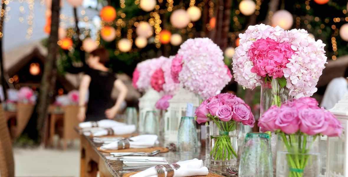 Fiesta de verano con flores