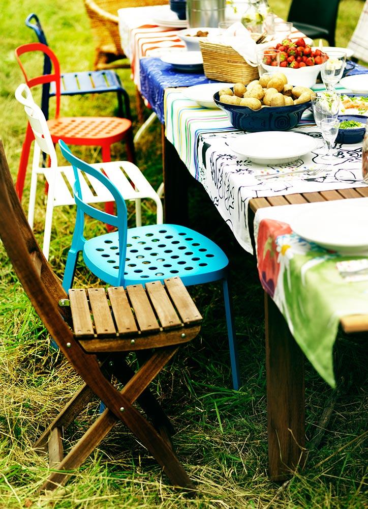 Fiesta de verano - mobiliario