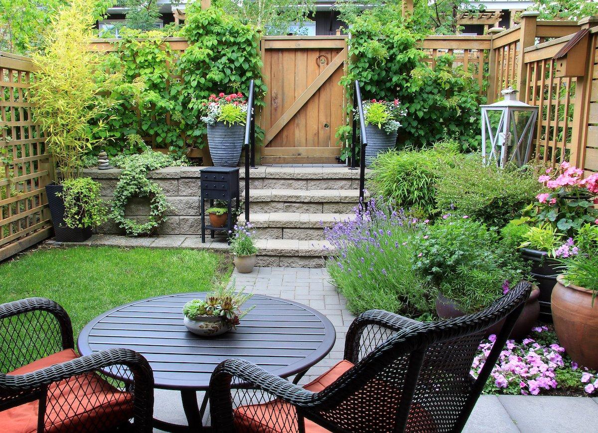 jardín pequeño - posibilidades
