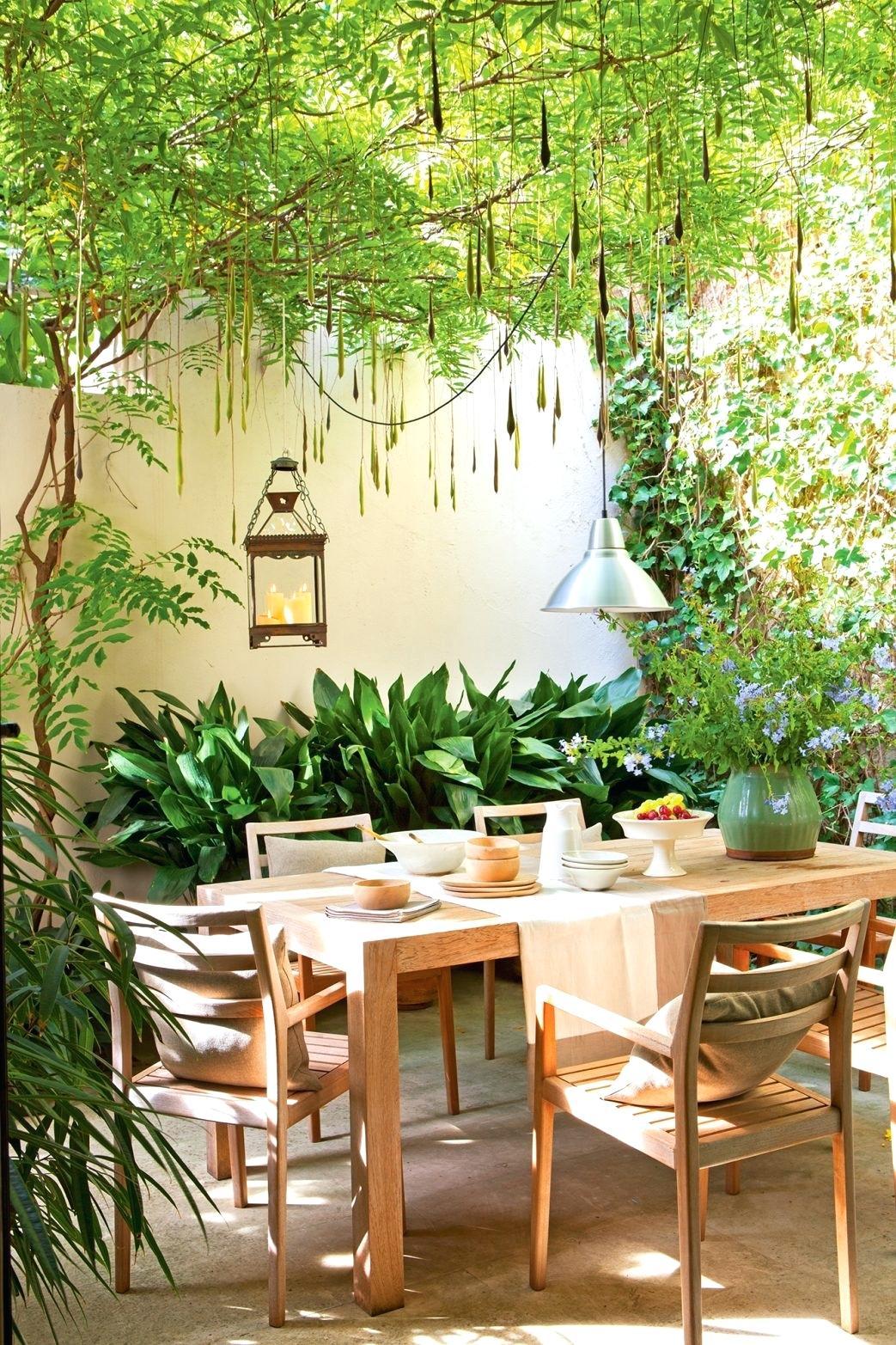jardín pequeño - mobiliario