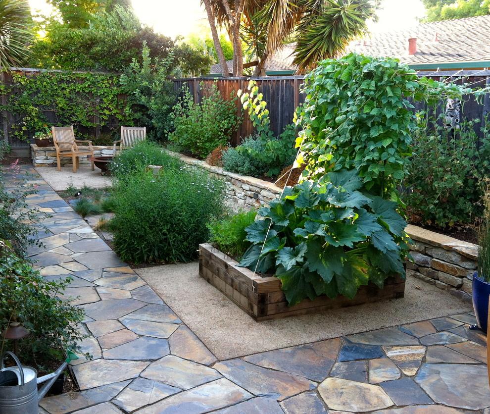 jardín pequeño - pavimento