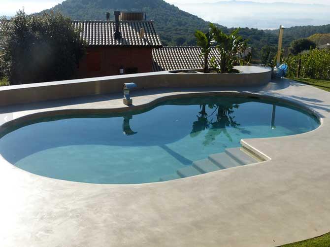 Revestimientos de piscina - microcemento