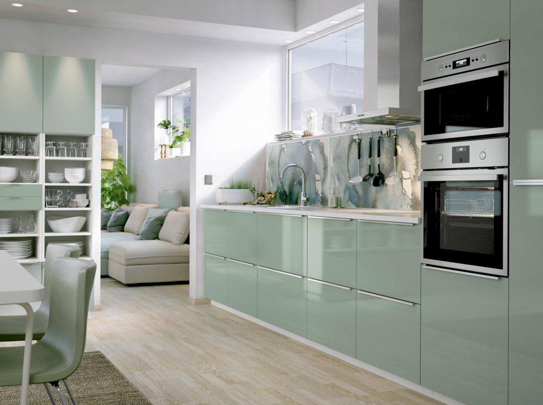 cocina en color verde
