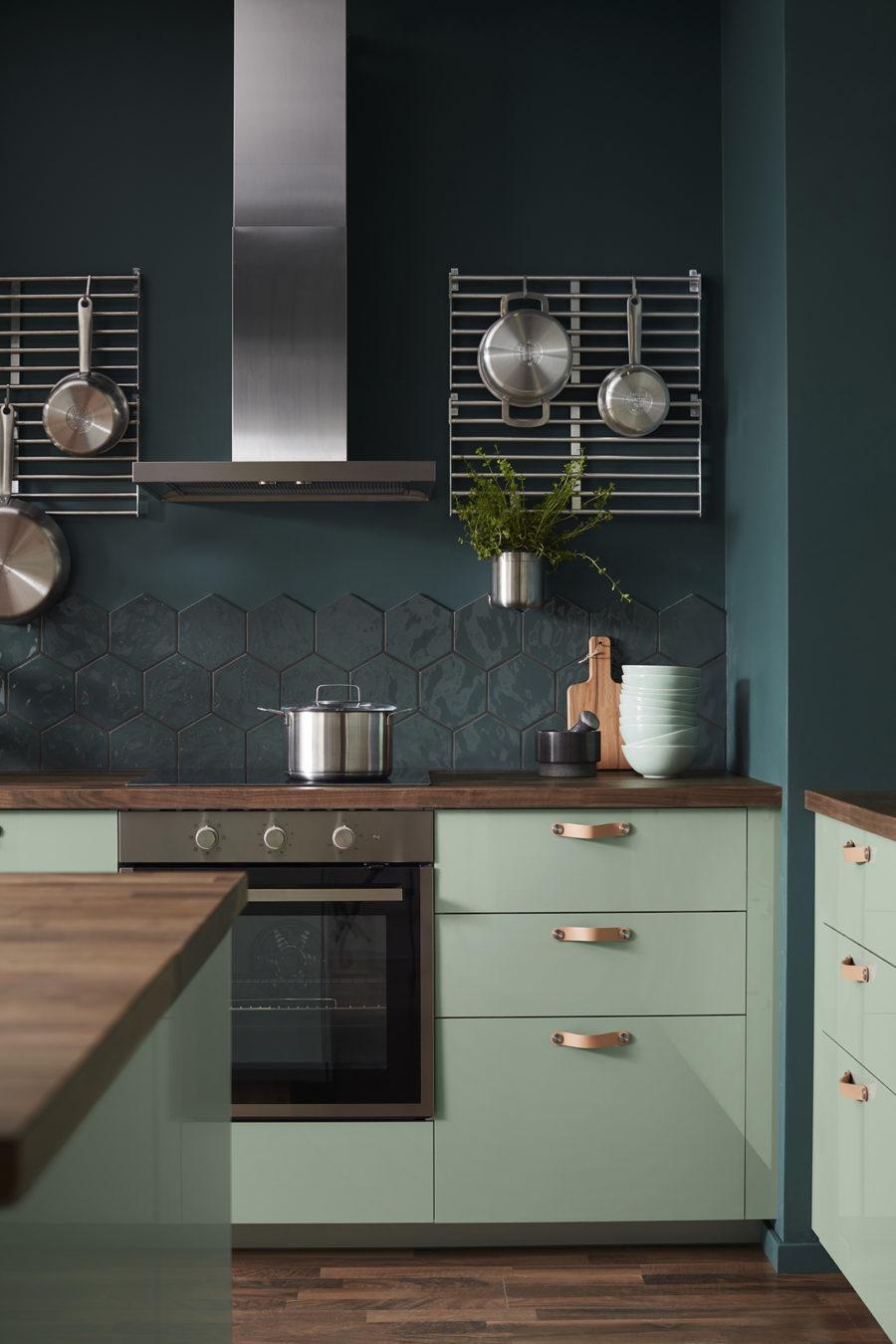 Catálogo Ikea- cocinas verde y azul