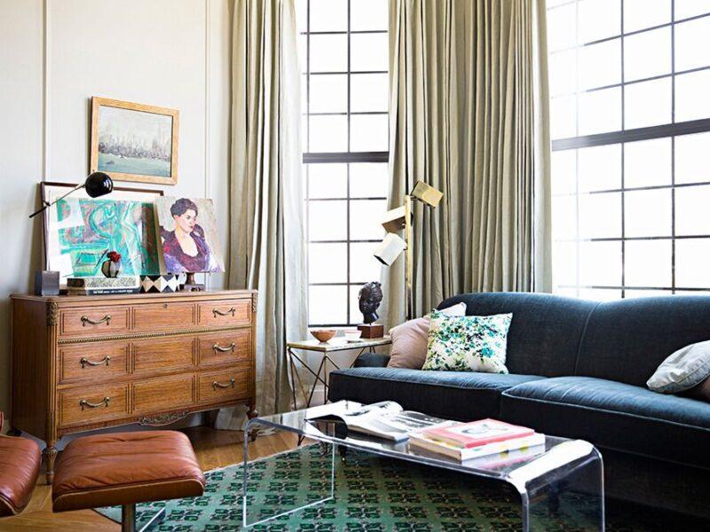 muebles antiguos en salón