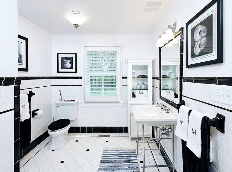 Baños negros - luz en espejo